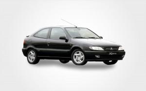 Schwarzer Citroen Xsara Automatik. Europeo Cars bietet ein günstiges Citroen Xsara Automatikfahrzeug auf Kreta