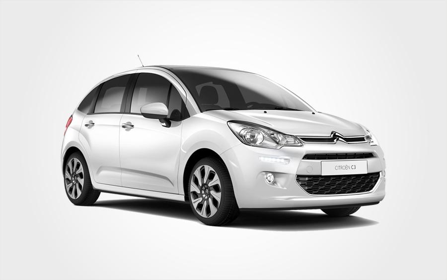 Réservez une Citroën C3 blanche du groupe C en Crète Voiture à louer à bas prix chez Europeo Cars.