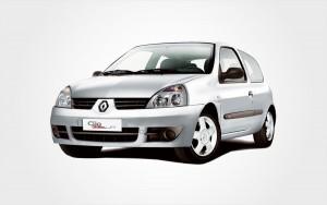 Voiture de location Renault Clio (groupe C) gris argenté à réserver en Crète chez Europeo Cars.