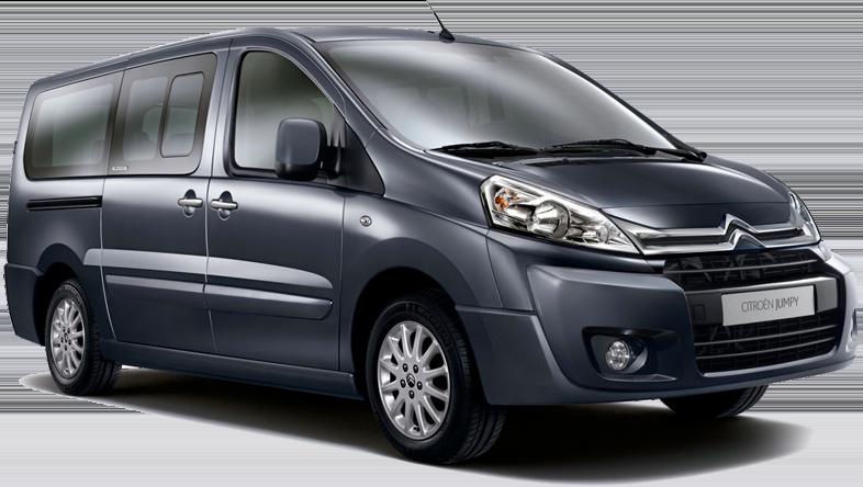 Utilitaire 9 sièges Citroën Jumpy à louer en Crète avec Europeo Cars. Offre spéciale à 275€/semaine