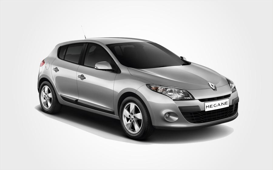 Renault Megane hatchback, grigia, da Europeo Cars. Prenota una Renault, Gruppo D, a Creta.