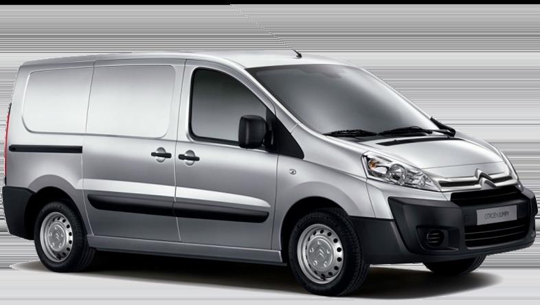 Citroen Jumpy z Europeo Cars. Wynajem 7-osobowego minibusa na Krecie za 240 € za tydzień UWAGA: MINIBUS GRUPA L, 7 MIEJSC A/C NALEPKA Z CENĄ 240 €/TYDZIEŃ
