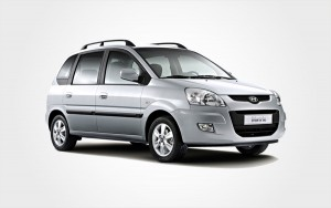 Group E Hyundai Matrix hire car in silver. Use Europeo Cars Rentals in Crete to reserve a large car.