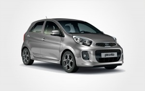 Grey Kia Picanto by Europeo Cars rentals. Low cost Group B small car available to reserve in Crete.