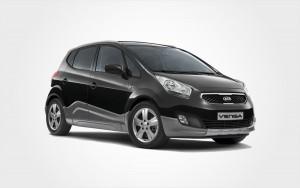 Black Kia Venga hire car. Reserve a group D Kia Venga rental car in Crete from Europeo Cars in Crete