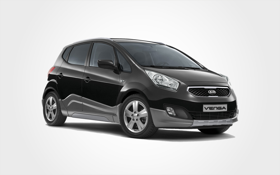 Black Kia Venga hire car. Reserve a group D Kia Venga rental car in Crete from Europeo Cars in Crete