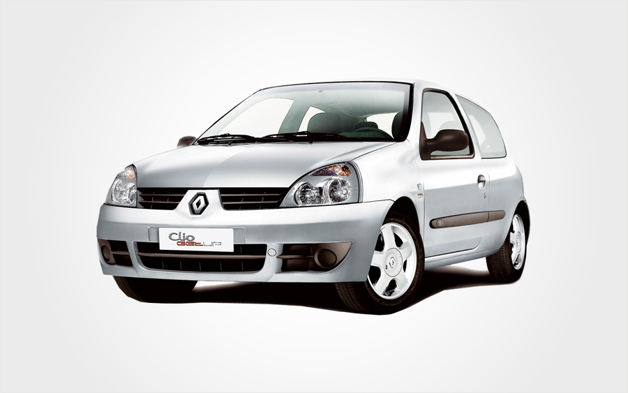 Silver Renault Clio group C hire car available to reserve in Crete from Europeo Cars Rentals.
