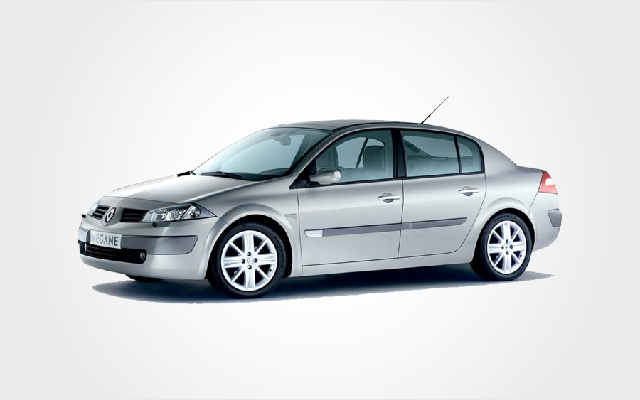 Renault Megane auto in silver. Automatic Renault Megane car hire in Crete from Europeo Cars Rentals.