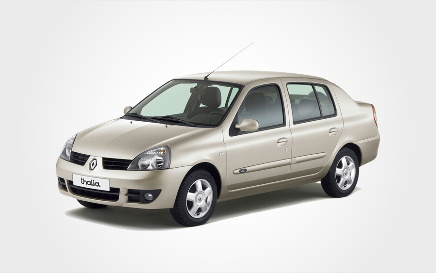 Renault Thalia beige hire car in Crete. Group D car available to reserve from Europeo Cars Rentals.