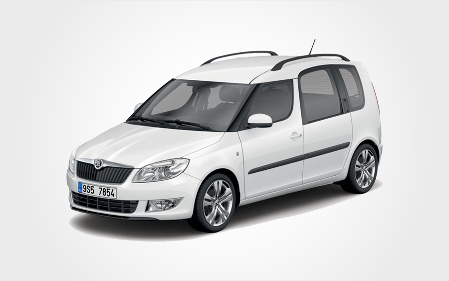 rent a skoda roomster in crete europeo cars rentals. Black Bedroom Furniture Sets. Home Design Ideas