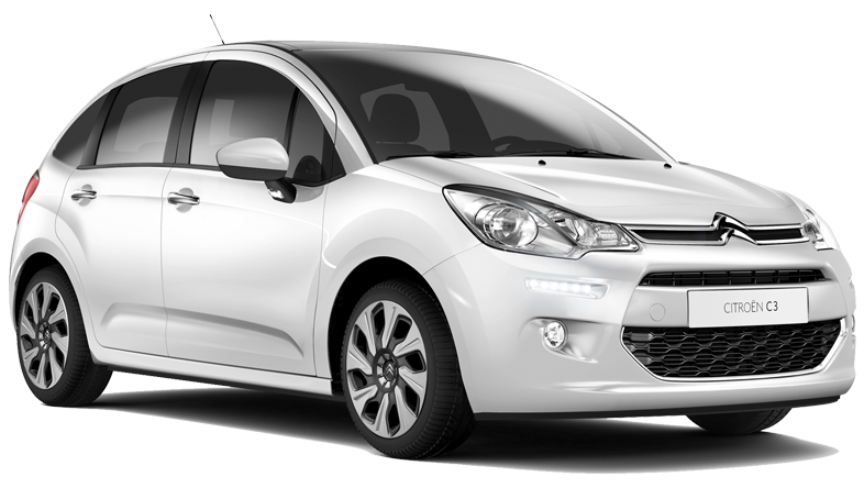 €152 per week offer to rent a Citroen C3 hire car in Crete. Europeo Cars Rentals Group C car.