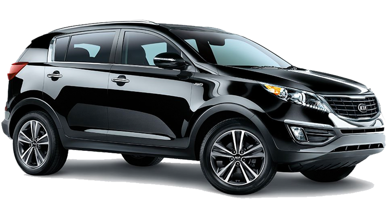 Kia Sportage luxury SUV car for hire. Rent a jeep in Crete for €249 per week offer from Europeo Cars