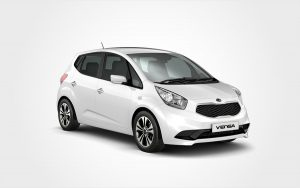 White Kia Venga from Europeo Cars. Reserve a Renault Group D rental car in Crete.