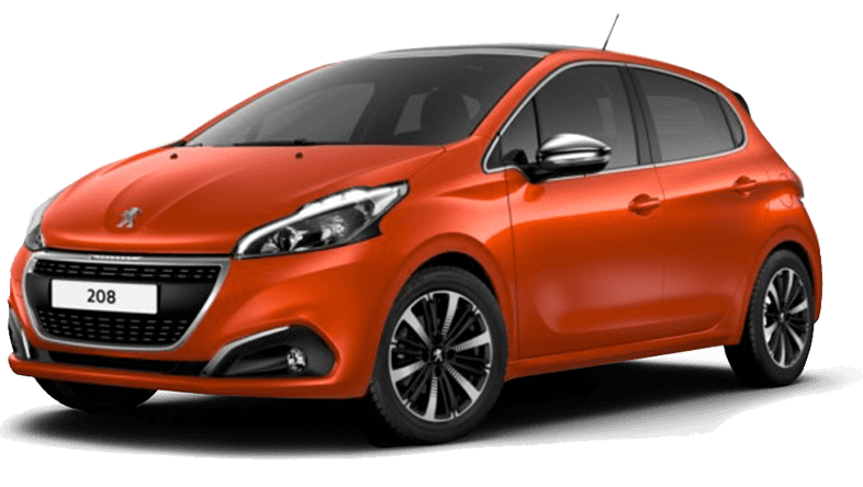 Peugeot 208 with air conditioning. Rent an economy car in Crete for a low price.