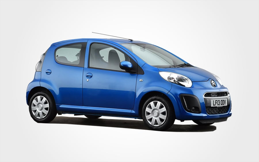 Blue Citroen C1 for hire. Reserve a Europeo Cars rentals Group A manual car in Crete.