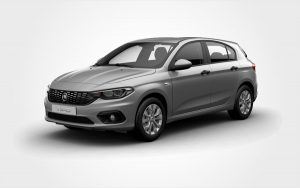 Grey Fiat Tipo from Europeo Cars. Reserve a Renault Group D rental car in Crete.
