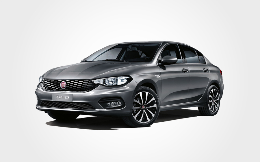 Fiat Tipo Sedan for hire. Rent a car in Crete for €178 per week from Europeo Cars.