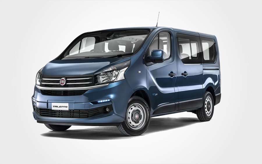 Fiat Talento (Diesel) with 9 seats for hire. Rent a car in Crete for an economy price.